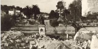 H πλατεία Βαλλιάνου μετά τους σεισμούς του 1953 – φωτ. Κοργιαλένειο Μουσείο Αργοστολίου