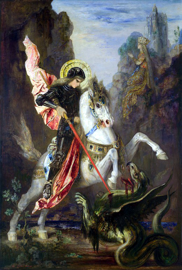 Saint George and the Dragon, του Gustave Moreau