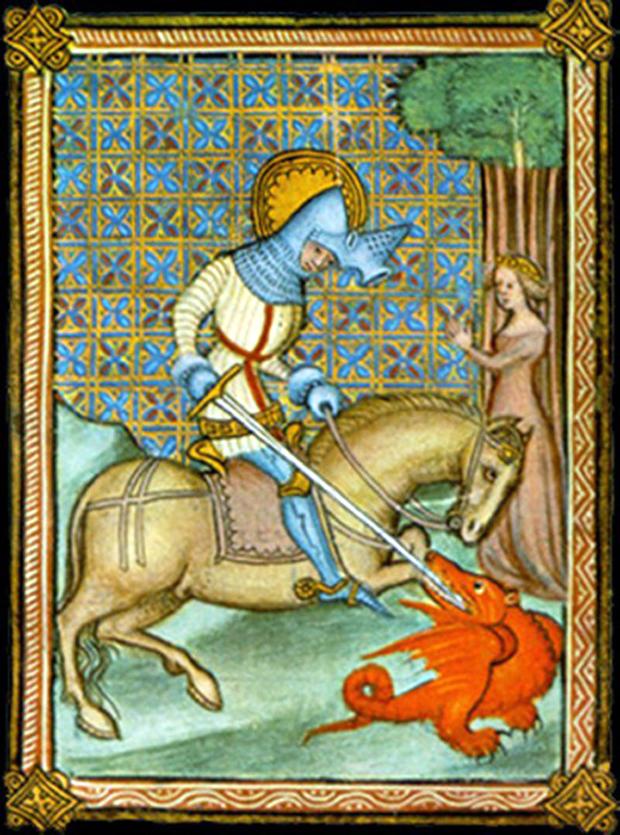 Ο Άγιος Γεώργιος νικά τον δράκο, και σώζει τη βασιλοπούλα (Αν. Καλλιτέχνης./ Wikipedia)