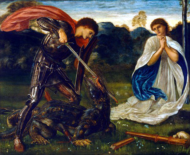 "Edward Burne-Jones – ""Saint George fighting the Dragon"", του Edward Burne-Jones (1868)"
