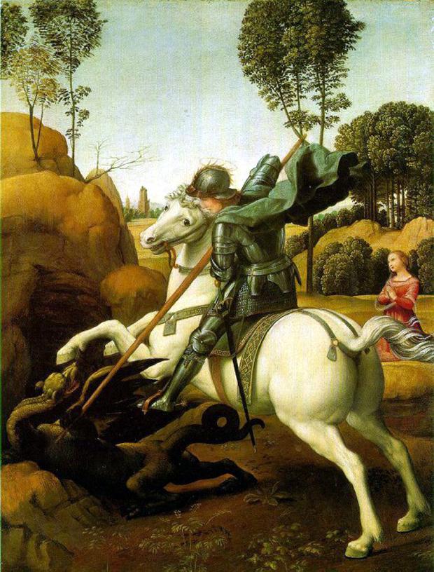 Ο διάσημος Άγιος Γεώργιος του Ραφαήλ (1505-1506)