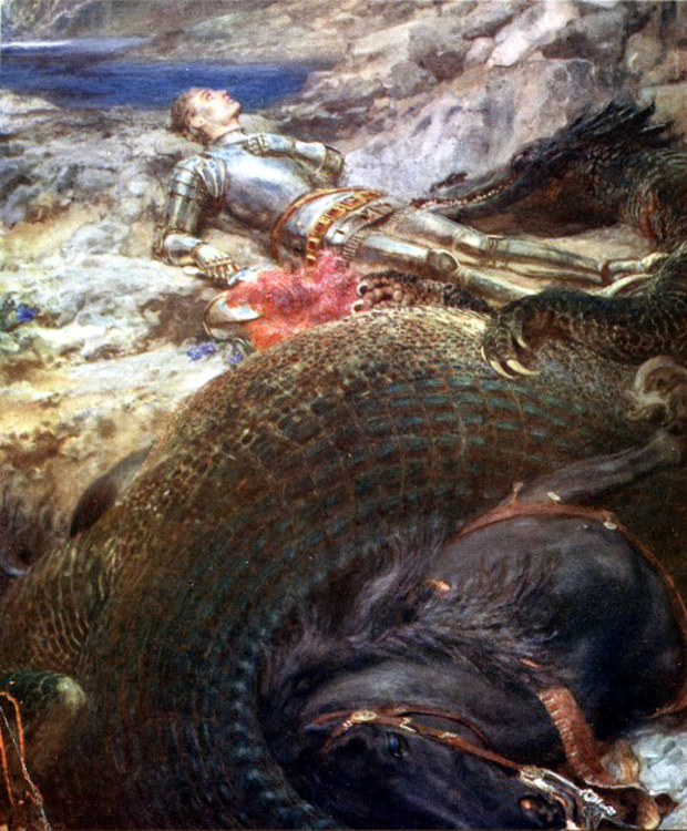 """""""St. George and the Dragon"""" από τον Briton Reviere"""
