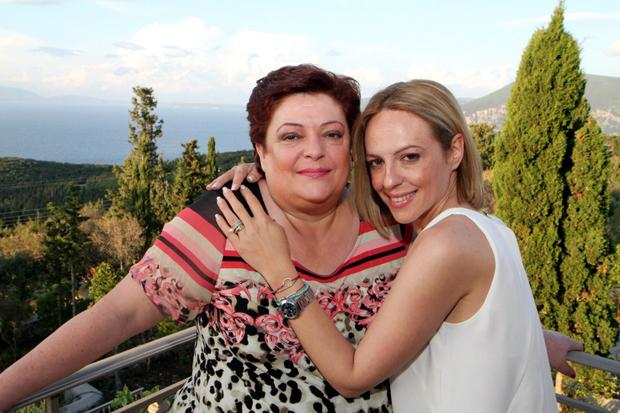 Με την κόρη της Αθανασία.