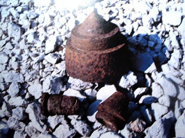 Τμήμα βλήματος των 150 χιλιοστών και πώματα (Ν. Τσελέντης)