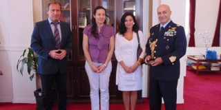 Ιταλοί Διπλωματικοί Ακόλουθοι στο Δημαρχείο Κεφαλονιάς