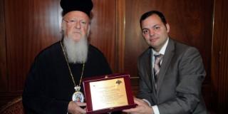 Ο Πρόεδρος της Κεφαλληνιακής Αδελφότητος Αθηνών στον Οικουμενικό Πατριάρχη