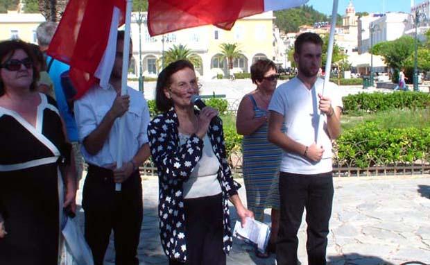 Μια Κεφαλονίτισσα ........στέλνει μήνυμα στην Ελλάδα