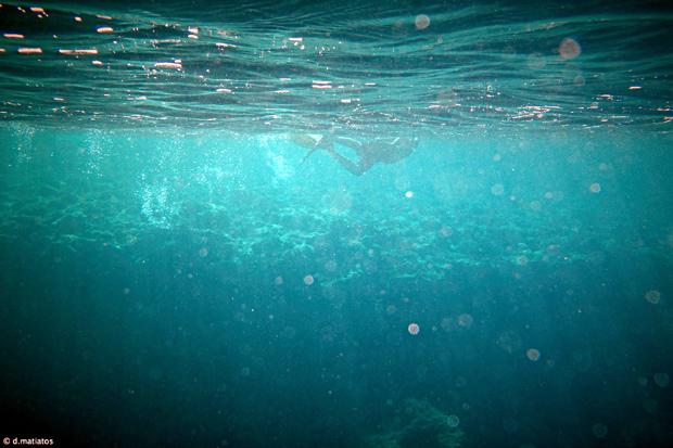 Υποβρύχια λήψη στο ακρωτήρι του Λιάκα