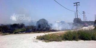 Μικρής έκτασης πυρκαγιά κοντά στο Ίρινα