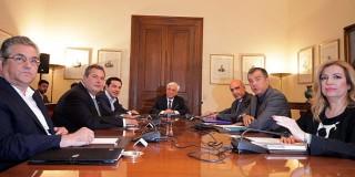 Σύσκεψη των πολιτικών αρχηγών