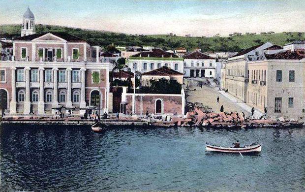 Θέατρο Κέφαλος οδός Θεάτρου. Αργοστόλι,Κεφαλονιά αρχές 20ου αιώνα.