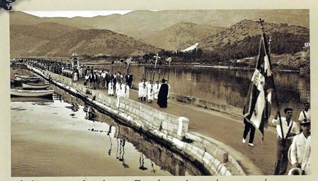 Λιτανεία της Δραπανιώτισσας στη γέφυρα Δεβοσέτου