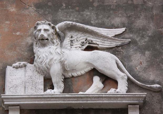 Ο φτερωτός λέων του Αγίου Μάρκου, έμβλημα της Βενετίας