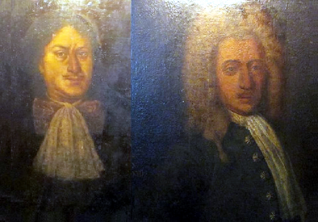 Πορτραίτα μελών της αριστοκρατικής οικογένειας Καρούσου από την Κεφαλονιά