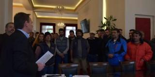 Το Συντονιστικό Όργανο των Αγροτών - Κτηνοτρόφων  στο Δημαρχείο Κεφαλονιάς